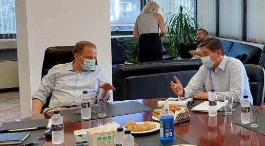 Επίσκεψη του Υπουργού Υποδομών και Μεταφορών Κ. Καραμανλή στα γραφεία του ΟΑΣΘ